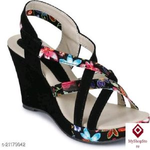 Women Best Design Heels Velvet Material