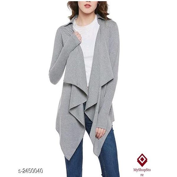 Women Fashion Cotton Shrug Full Sleeves
