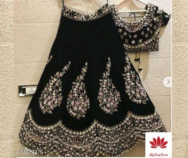 Aagyeyi Fashionable Women Lehenga With Choli And Net Dupatta