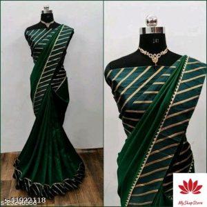 Abhisarika Voguish Sarees Vichitra Silk With Blouse Piece