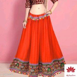 Attractive Women Western Skirts Rayon Fabric 10