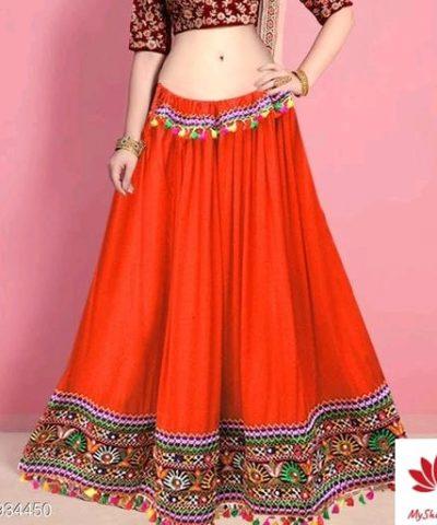 Attractive Women Western Skirts Rayon Fabric