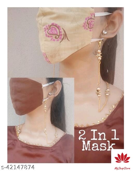 Facemask Chain And Get A Suprising Random Color Cotton Face Mask