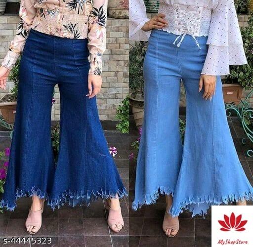 Fancy Graceful Women Jeans (Combo Pack of 2)