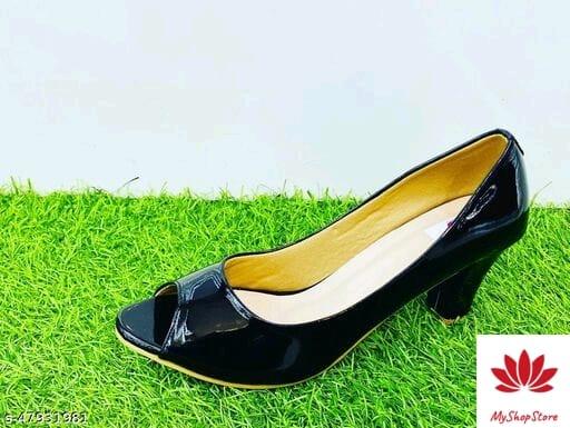 Fashionate Women Patent Leather Heels