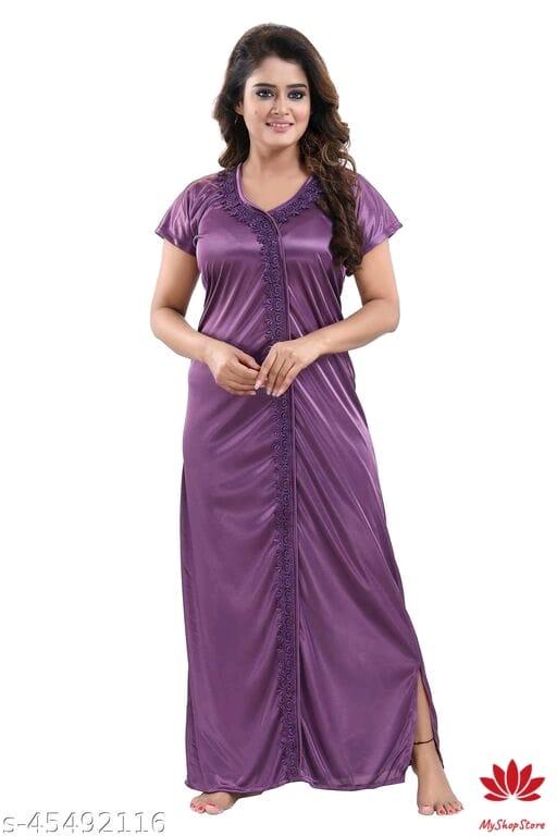 Inaaya Stylish Women Short Sleeves Nightdresses