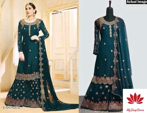 Trendy Women's Full Georgette Semi Stitched Suit