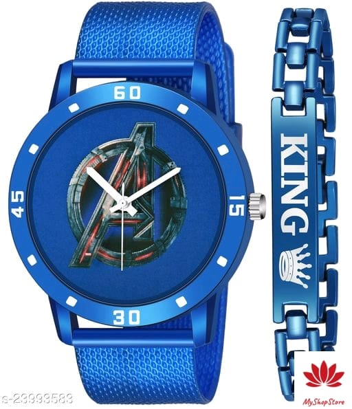Stylish Men Watches With Free Band